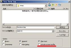 Include screen bufferオプション英語版