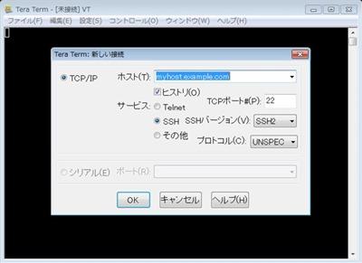TeraTerm初回起動画面