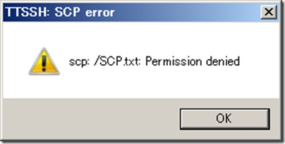 SCP error  Permission denied